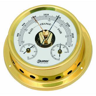 Talamex Series 125 Brass Barometer, Thermometer & Hygrometer
