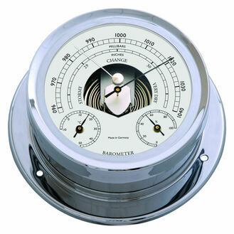 Talamex Series 165 Chrome Plated Brass Barometer, Thermometer & Hygrometer