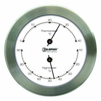Talamex Series 100 Stainless Steel Thermometer & Hygrometer