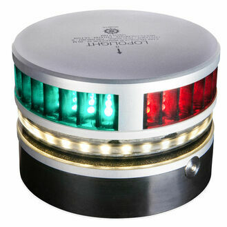 Lopolight - 2nm Tricolor w/anchor&strobe w/0.7 metre cable
