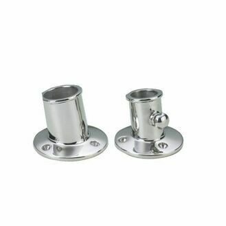 Talamex Flagpole Stainless Steel Socket (25mm)