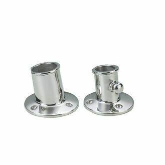 Talamex Stainless Steel Flagpole Socket (32mm)