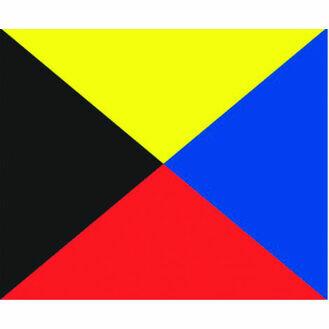 Talamex Signal Flag Z (30cm x 36cm)