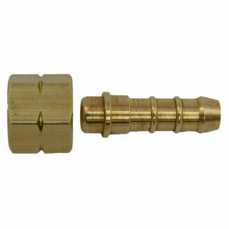 Talamex Straight Joint Brass Bi x 8mm Hose Connection