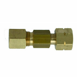 Talamex Straight Joint Brass 8 mm Compr.