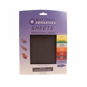 P100 Wet & Dry Aluminium Oxide Sanding Sheets 25 box