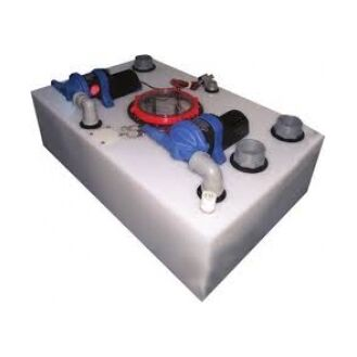 Whale Shower and Waste Sink System 100 ltr capacity with 2 Gulper 320 pumps