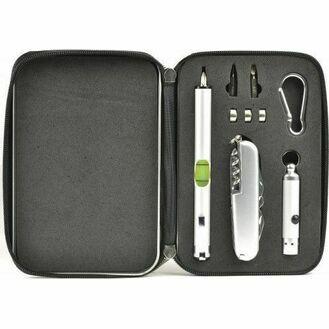 Nauticalia Four Piece Gadget Set - Level, Tool, Torch & Carabiner