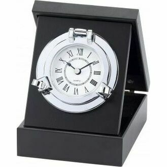 Nauticalia Chrome Porthole Clock/Box