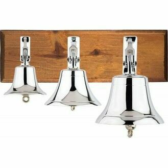 Nauticalia Chrome-Plated Ship's Bell (Various Sizes)