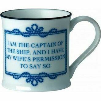 Nauticalia Sailing Sayings Bone China Mugs