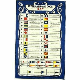 Nauticalia Galley Dish Cloth - Code Flags