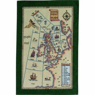 Nauticalia Galley Dish Cloth - Shipping Areas 2