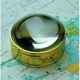 Nauticalia Brass Magnifier Dome - Crabtree