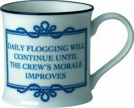 Nautical Phrases Bone China Galley Mug Daily Flogging
