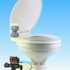 Jabsco Quiet Flush Electric 12V Compact Fresh Water Toilet Spares - 37045-3092