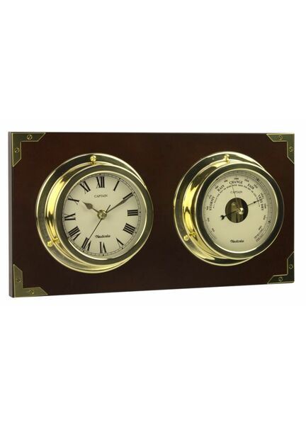 Nauticalia Captain Clock and Barometer Set