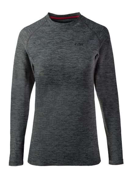 Gill Women\'s Long Sleeve Crew Neck - Ash