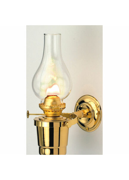 Nauticalia Brass Oil Lamp - Gipsy Moth (gimballed) - 25cm