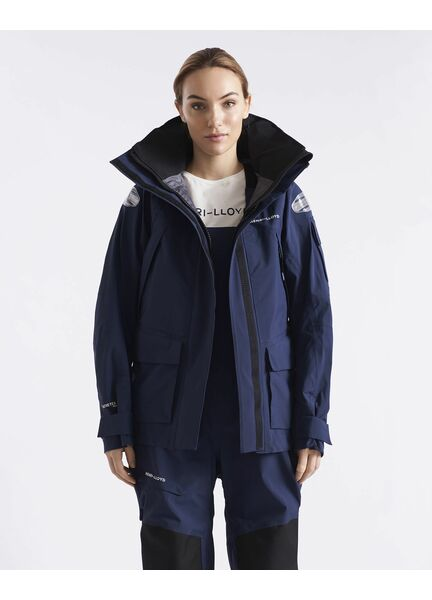 Henri Lloyd Women's O-Race Jacket (Navy Blue & Power Orange)