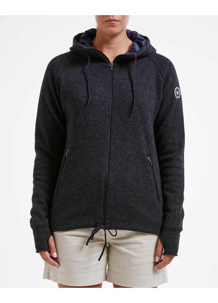 Holebrook Knitted Windproof Hooded Jacket Wool Blend