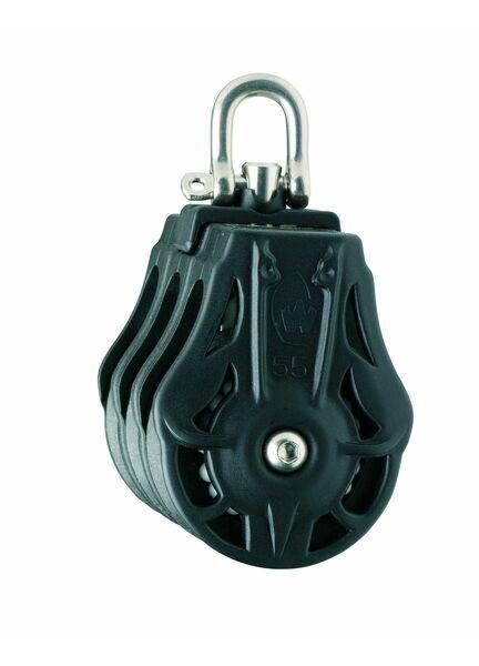 Wichard 70mm ball bearing Block: Triple Swivel Head