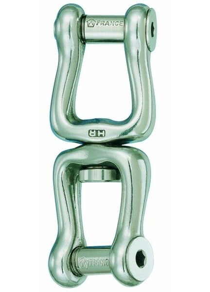 Wichard 120mm Swivel: Fork + Fork Shackle