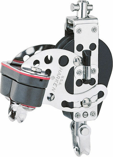 "Harken 2.25"" Hexa-Cat Base Block Swivel, Cam Cleat"