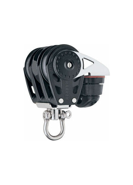 Harken 40 mm Triple Ratchet Block Swivel, Cam Cleat