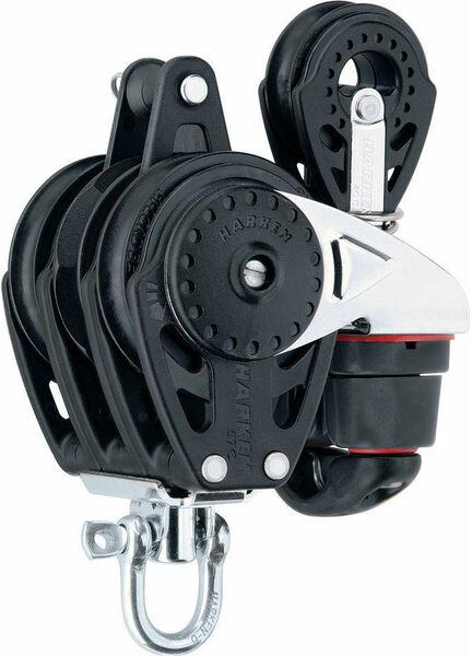Harken 57 mm Triple Ratchetchamatic Block Swivel, Cam Cleat, 40 mm Block