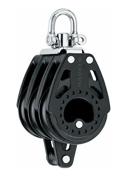 Harken 75 mm Triple Block Swivel, Becket