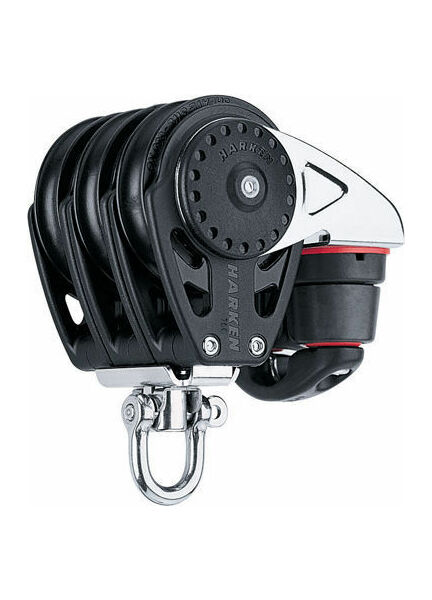 Harken 75 mm Triple Block Swivel, Cam Cleat