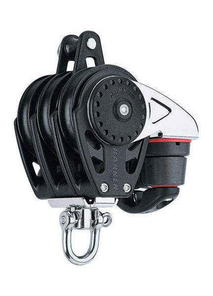 Harken 75 mm Triple Block Swivel, Becket, Cam Cleat