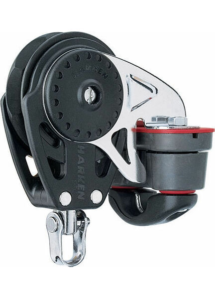 Harken 75 mm Ratchamatic Block Swivel, Cam Cleat
