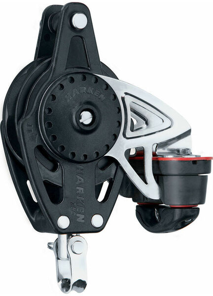 Harken 75 mm Ratchetchamatic Block Swivel, Becket, Cam Cleat