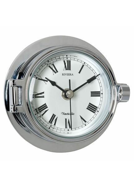 Nauticalia Chrome Riviera Clock