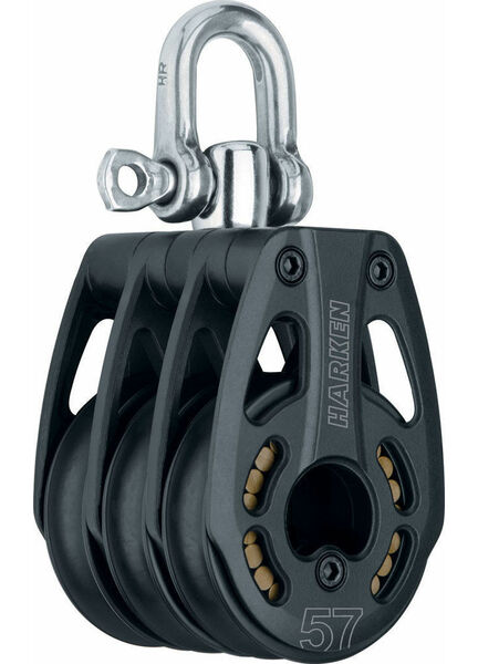 Harken 57 mm Aluminum Triple Block Swivel