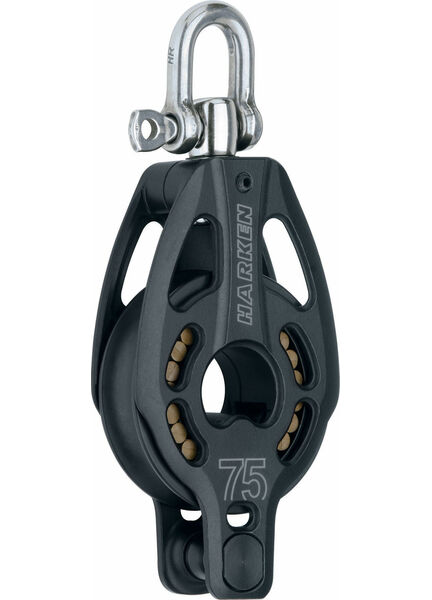 Harken 75 mm Aluminum Block Swivel, Becket