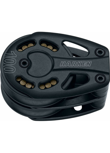Harken 100 mm Aluminum Double Footblock