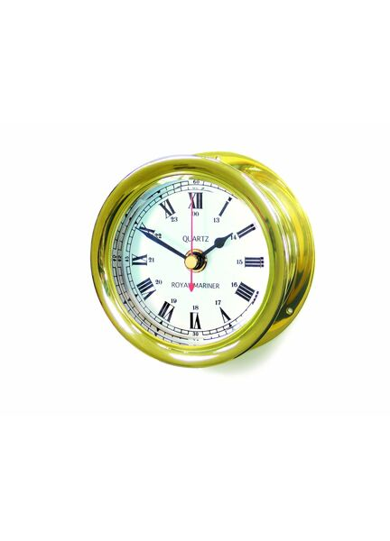 Meridian Zero Brass Capstan Maritime Clock