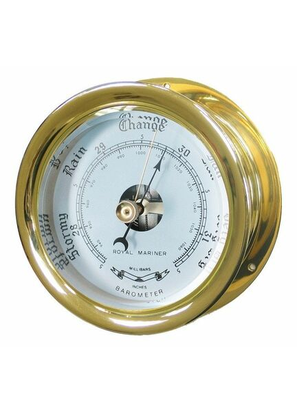 Meridian Zero Capstan Solid Brass Barometer