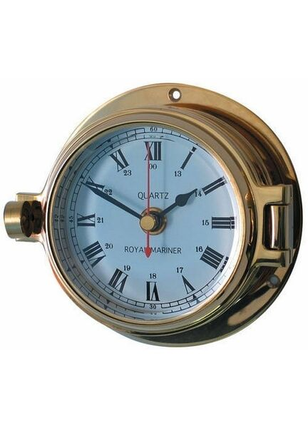 Meridian Zero Brass Channel Nautical Clock