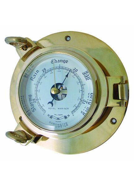 Meridian Zero Brass Porthole Barometer - Medium
