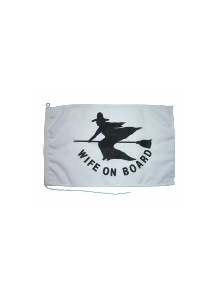Meridian Zero Wife on Board Flag - 30 x 45cm