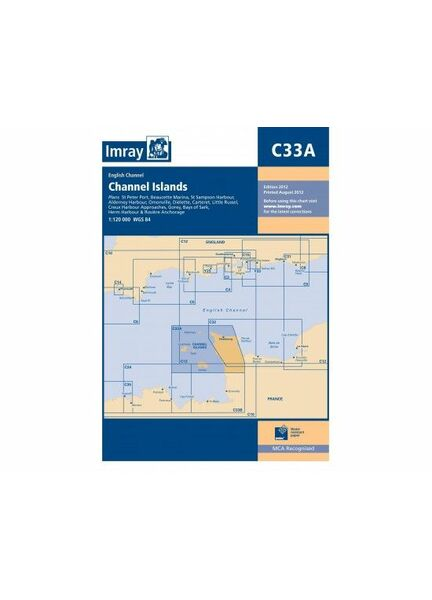 Imray C33A Channel Islands