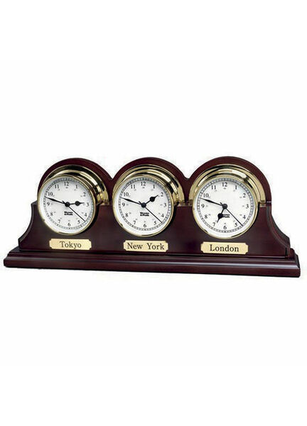 Weems & Plath Triple Wood Base Endurance Clock 085 (Mahogany Finish)