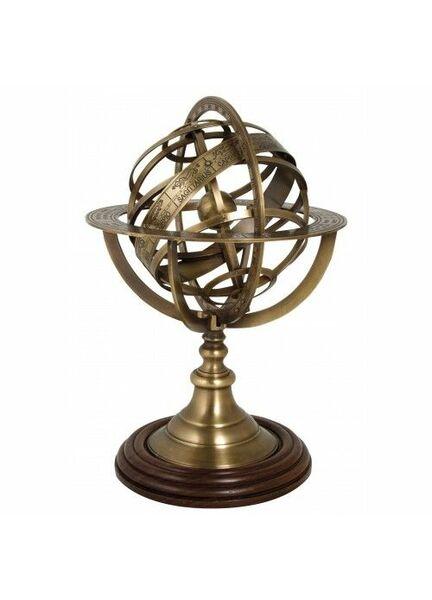 Nauticalia Antique Brass Armillary Sphere - 30cm