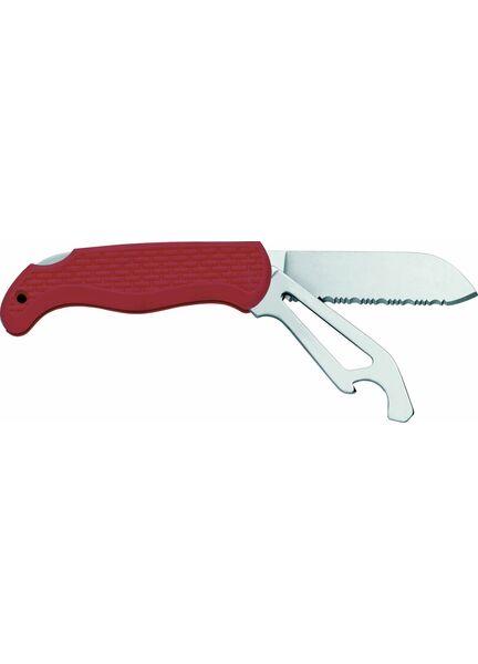 Meridian Zero Serrated Knife & Locking Shackle Key/Opener - Red