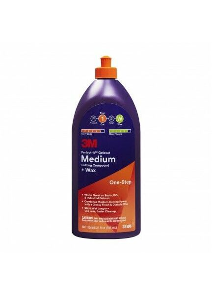 3M Perfect - It Medium Cutting Compound & Wax 473ml