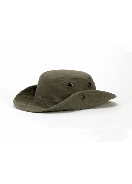 8bd345ea7155d Tilley T3 Medium Brim Snap-Up    The Wanderer   Hat - Vintage Olive from  £70.00